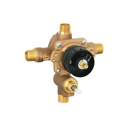GROHE 35016000 Grohsafe™ Pressure Balance Rough-In Valve, 1/2 in C/NPT Inlet x 1/2 in C/NPT Outlet, 5.8 gpm, Brass Body, Import