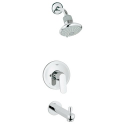 GROHE 35019000 Valve and Bath Combination, 2.5 gpm Shower, Hand Shower Yes/No: No, Chrome Plated