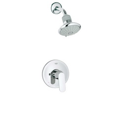 GROHE 35020000 Eurosmart® Cosmopolitan Bathtub/Shower Combination, 2.5 gpm Shower, Hand Shower Yes/No: No, StarLight® Chrome Plated