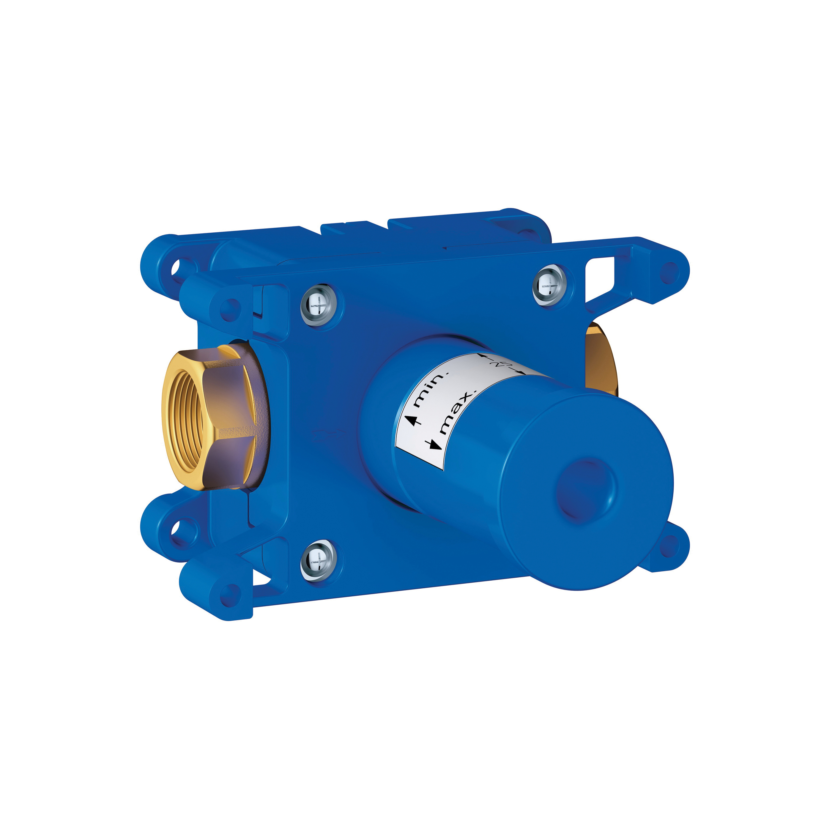 GROHE 35029000 Rapido C Single Volume Control Rough-In Valve, 1/2 in FNPT Inlet x 1/2 in FNPT Outlet, 45 psi, 12.6 gpm, Brass Body, Import