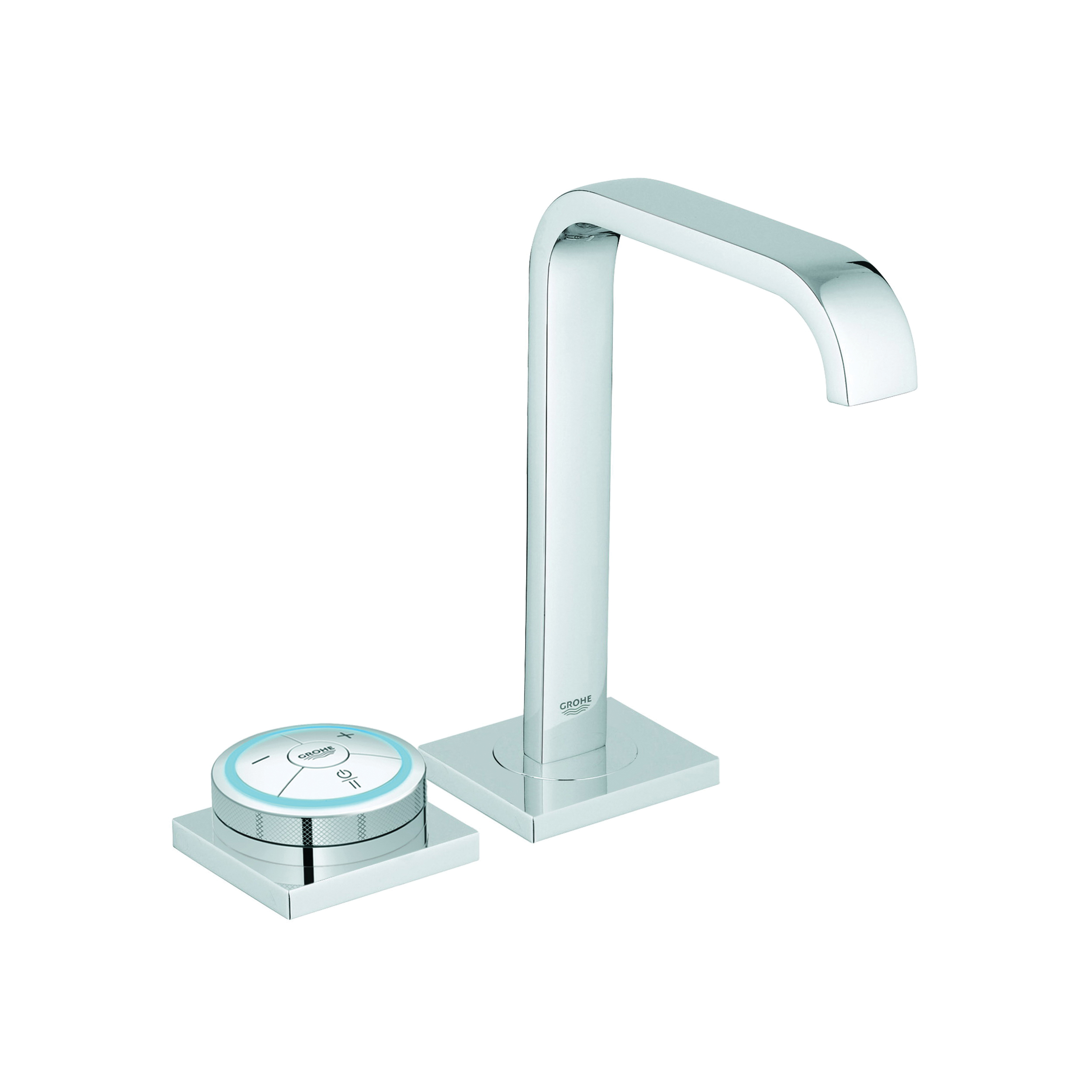GROHE 36345000 Allure F-Digital Bathroom Basin Mixer, 1.5 gpm, 7-1/2 in H Spout, 2 Handles, Push-Open Drain, 1 Faucet Hole, StarLight® Chrome, Import
