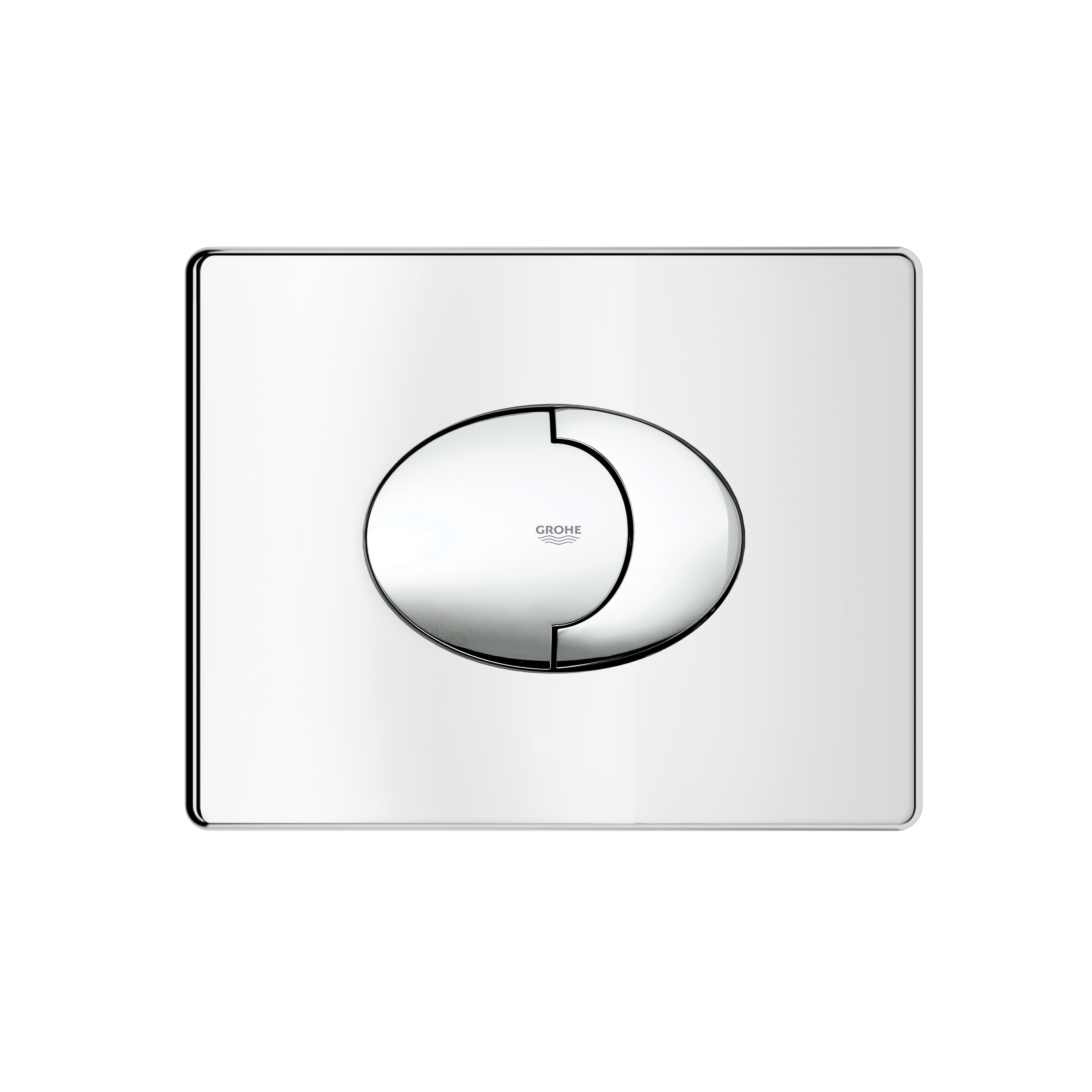 GROHE 38506000 Skate Air Wall Plate, For Use With Dual Flush or Start/Stop Actuation and AV1 Pneumatic Discharge Valve, ABS, StarLight® Chrome Plated, Import