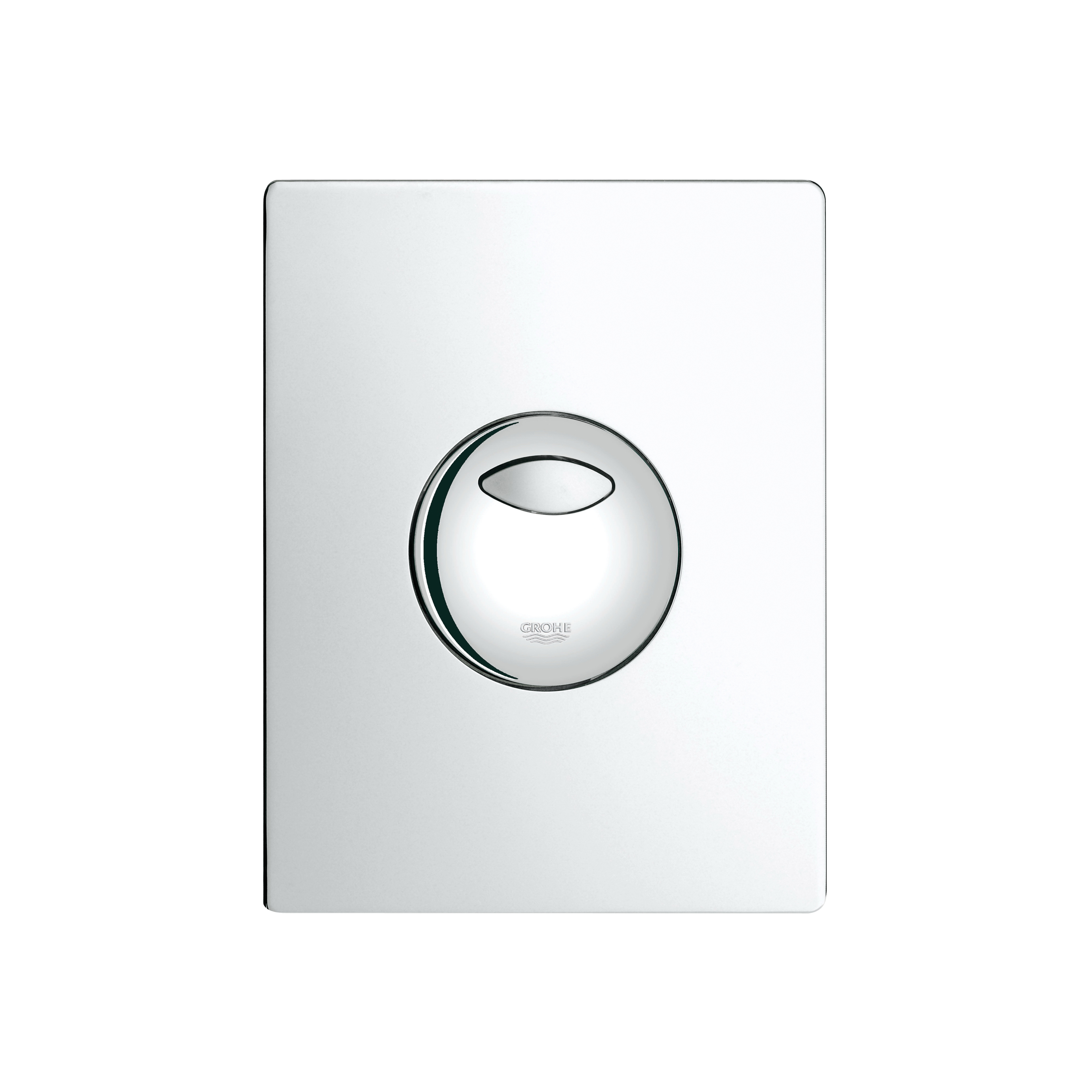 GROHE 38862000 Skate Wall Plate, For Use With Dual Flush or Start/Stop Actuation and AV1 Pneumatic Discharge Valve, ABS, StarLight® Chrome Plated, Import