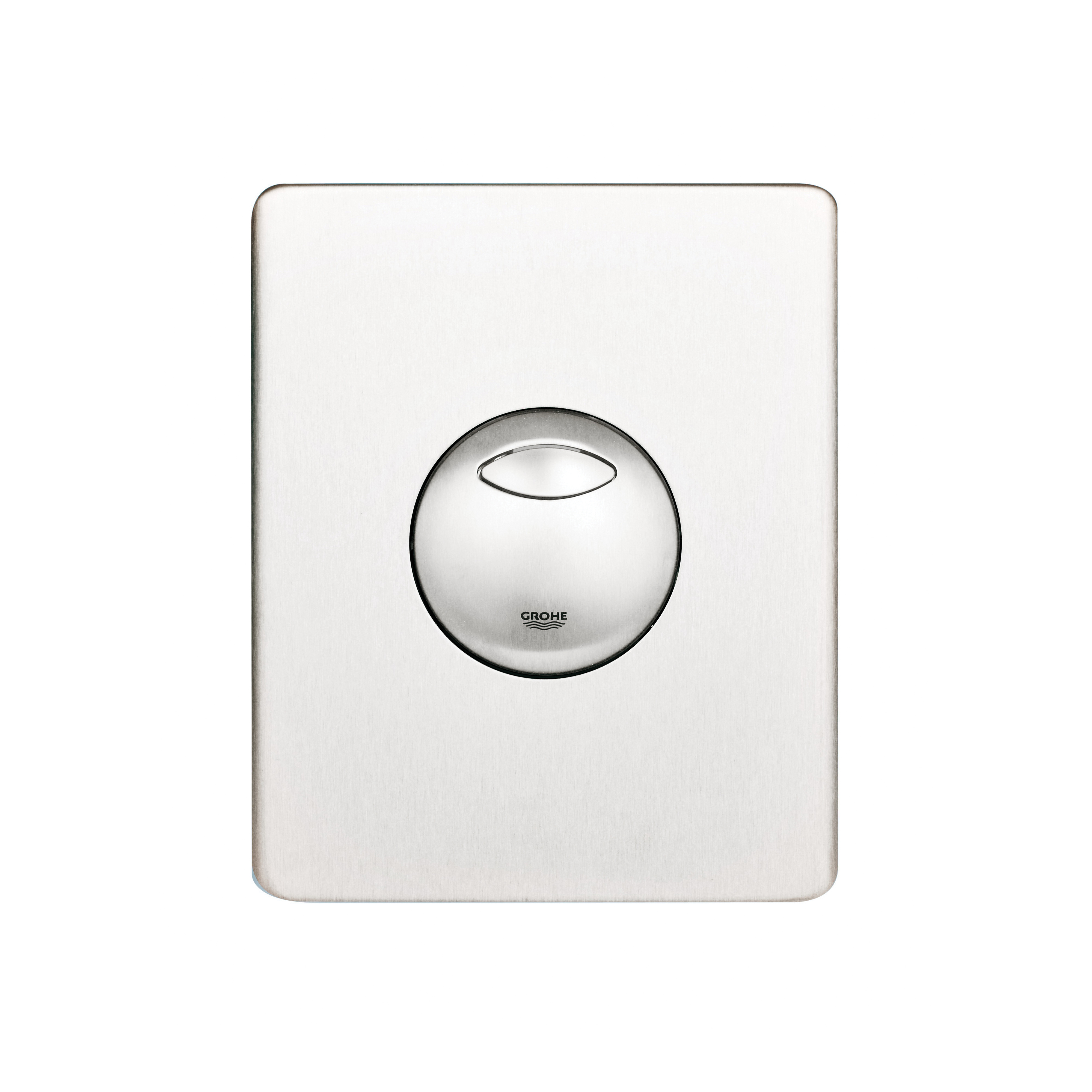 GROHE 38862SD0 Skate Wall Plate, For Use With Dual Flush or Start/Stop Actuation and AV1 Pneumatic Discharge Valve, ABS, RealSteel®, Import