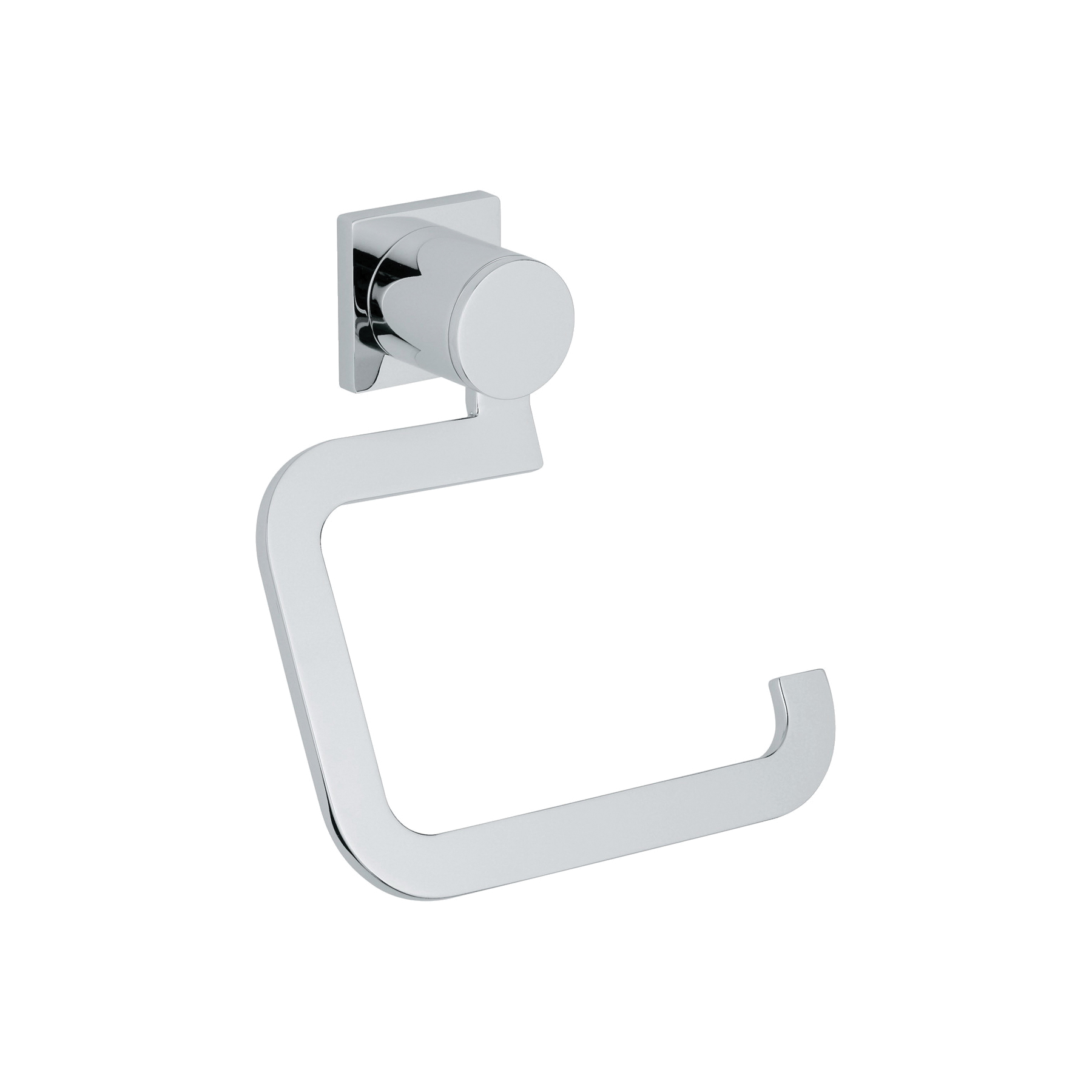 GROHE 40279000 Allure Toilet Paper Holder, 152 mm H, Brass, Chrome Plated, Import