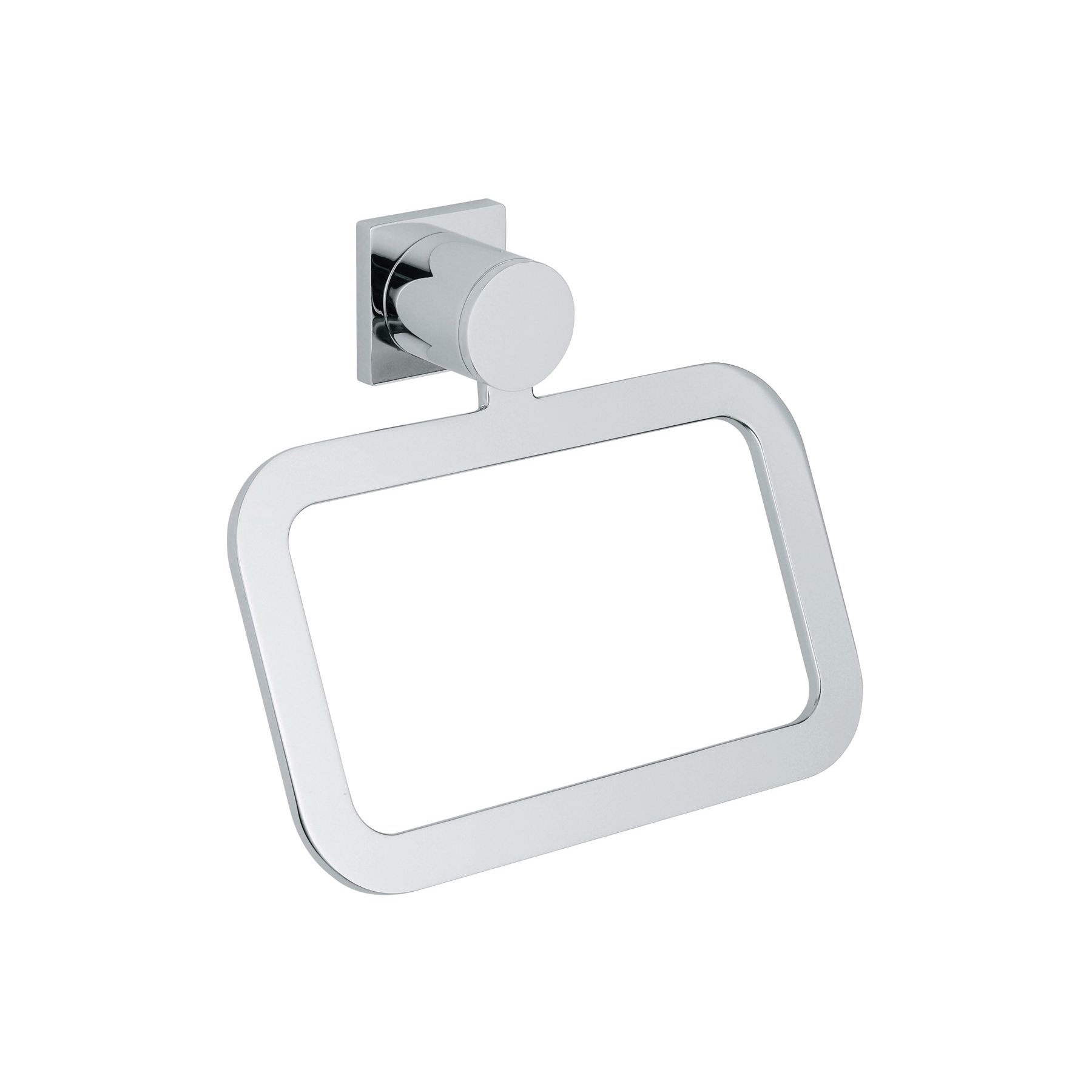 GROHE 40339000 Allure Towel Ring, 93 mm OAD x 156 mm OAH, Metal, Import