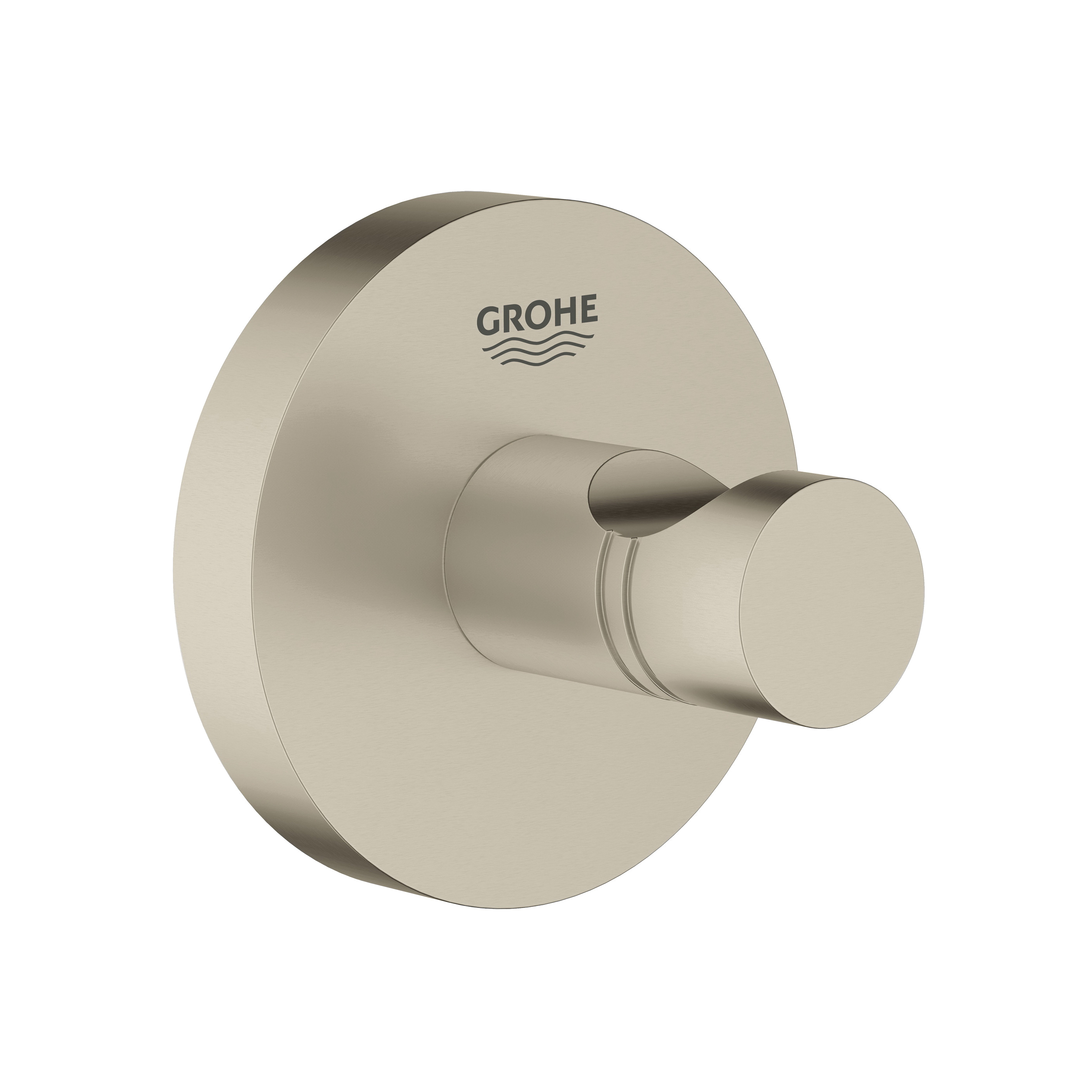 GROHE 40364EN1 Essentials Robe Hook, 1-3/4 in L x 2-1/8 in H, 1 Hook, Import