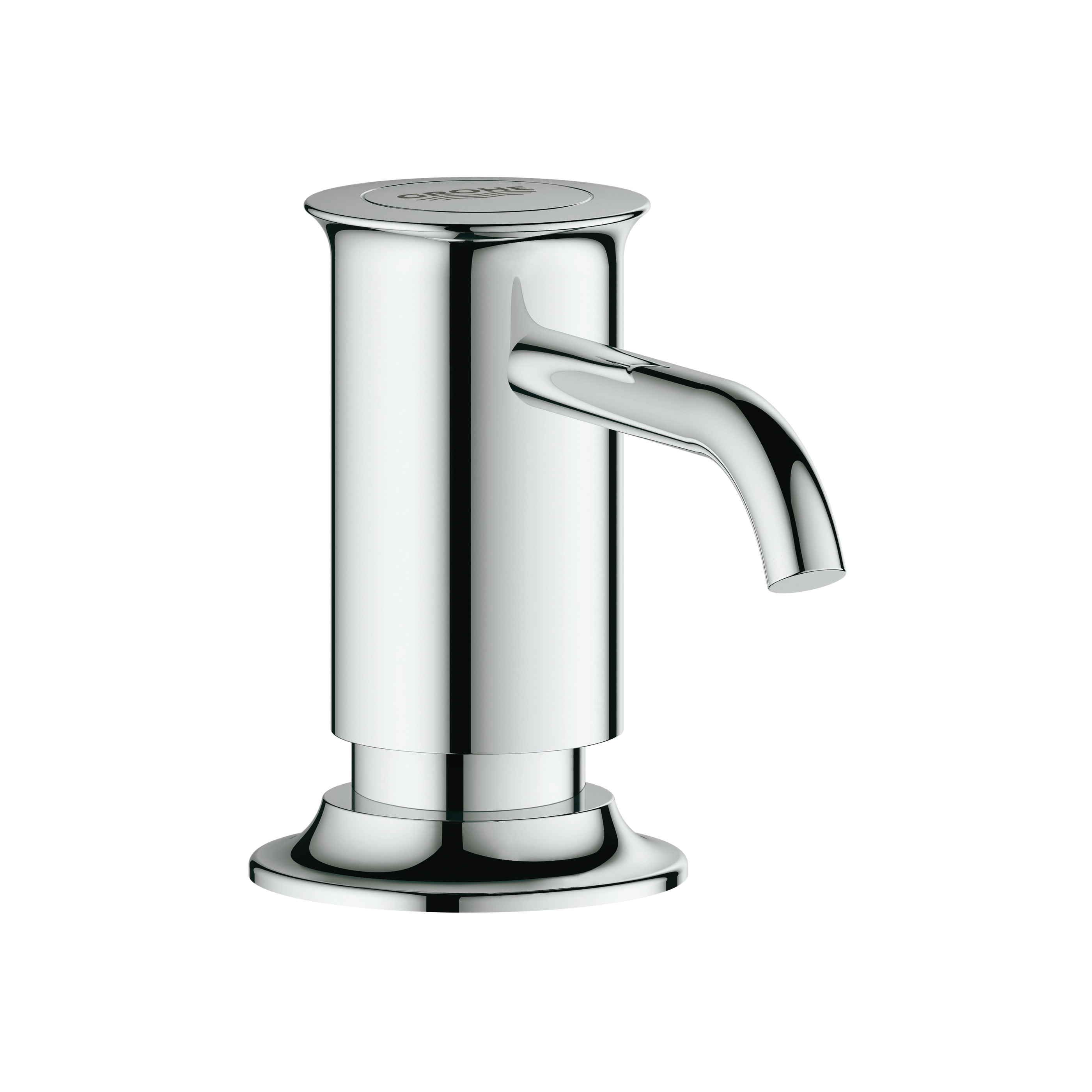 GROHE 40537000 Authentic Soap Dispenser, 15 oz, Deck Mount, Brass, StarLight® Chrome