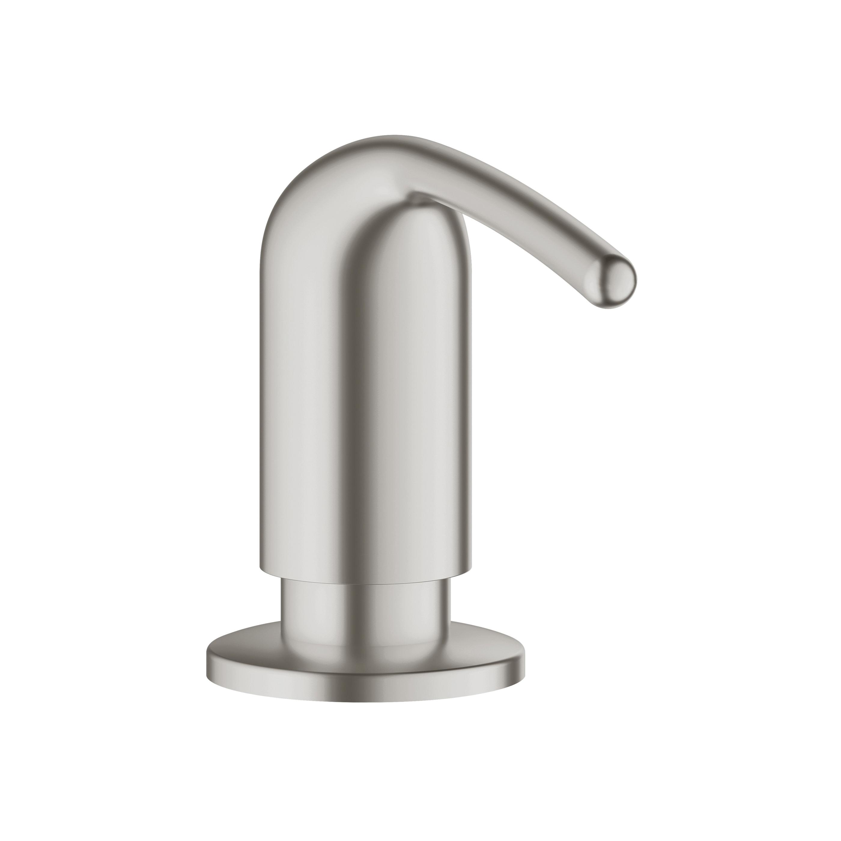 GROHE 40553DC0 Ladylux Zedra Soap Dispenser, 15 oz, Deck Mount, Brass, SuperSteel