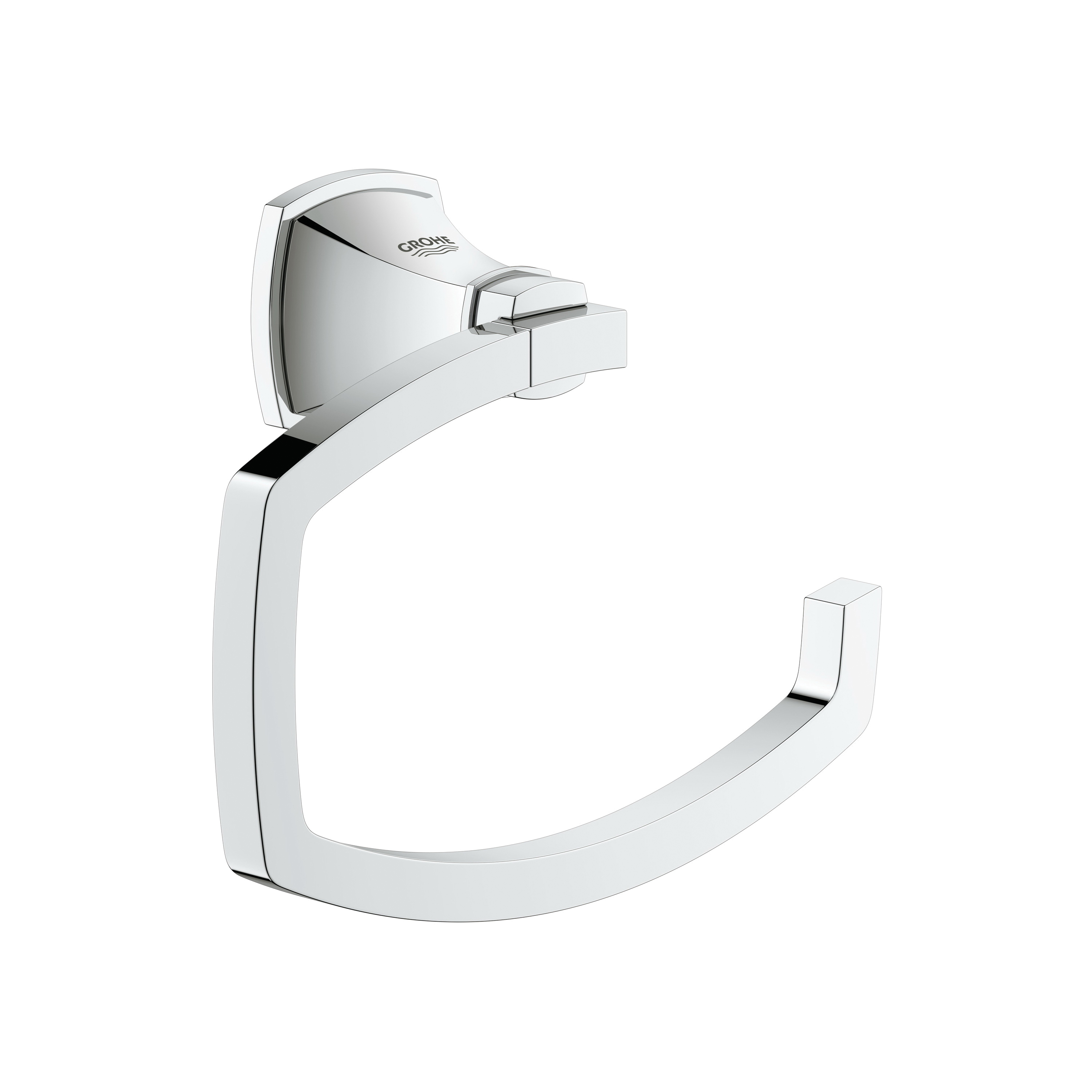 GROHE 40625000 Grandera™ Toilet Paper Holder, 4.667 in H, Brass, Chrome Plated, Import