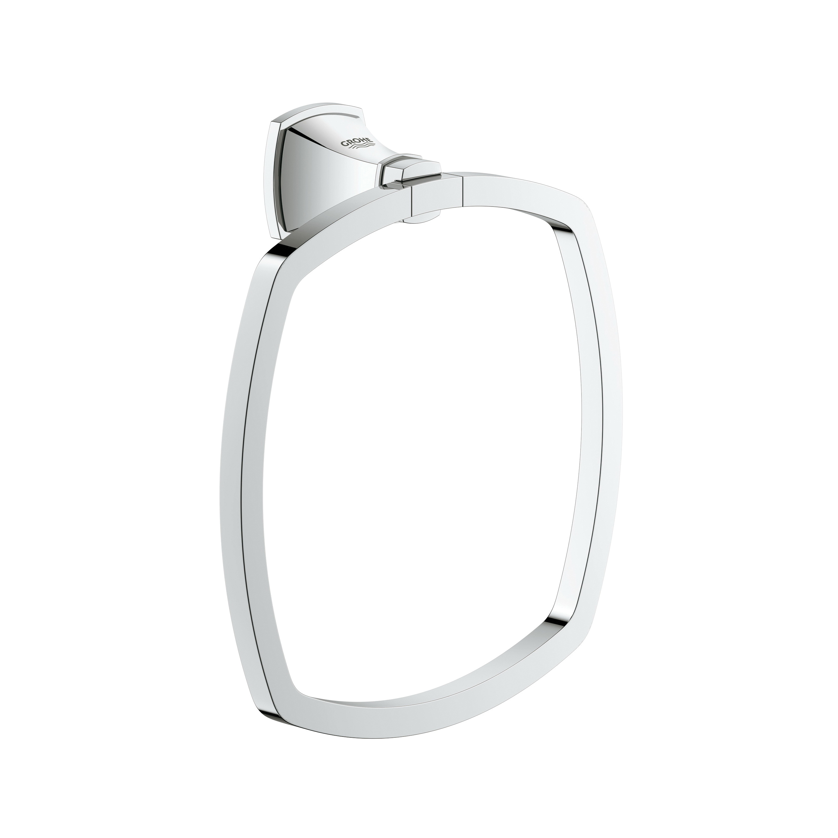GROHE 40630000 Grandera™ Towel Ring, 7-1/4 in Dia Ring, 2-5/16 in OAD x 4-15/16 in OAH, Brass, Import