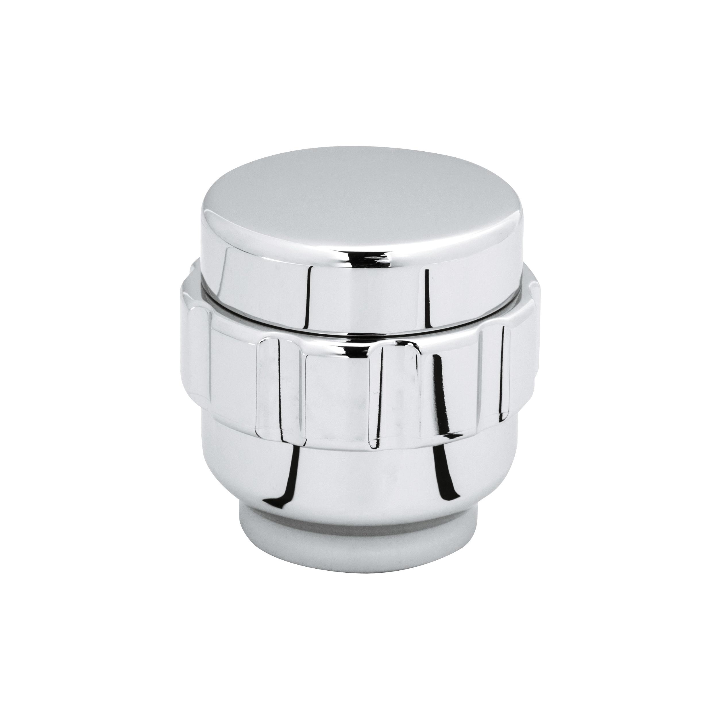 GROHE 45477000 Ultra Grip Ring Knob Handle, Brass, StarLight® Chrome, Import
