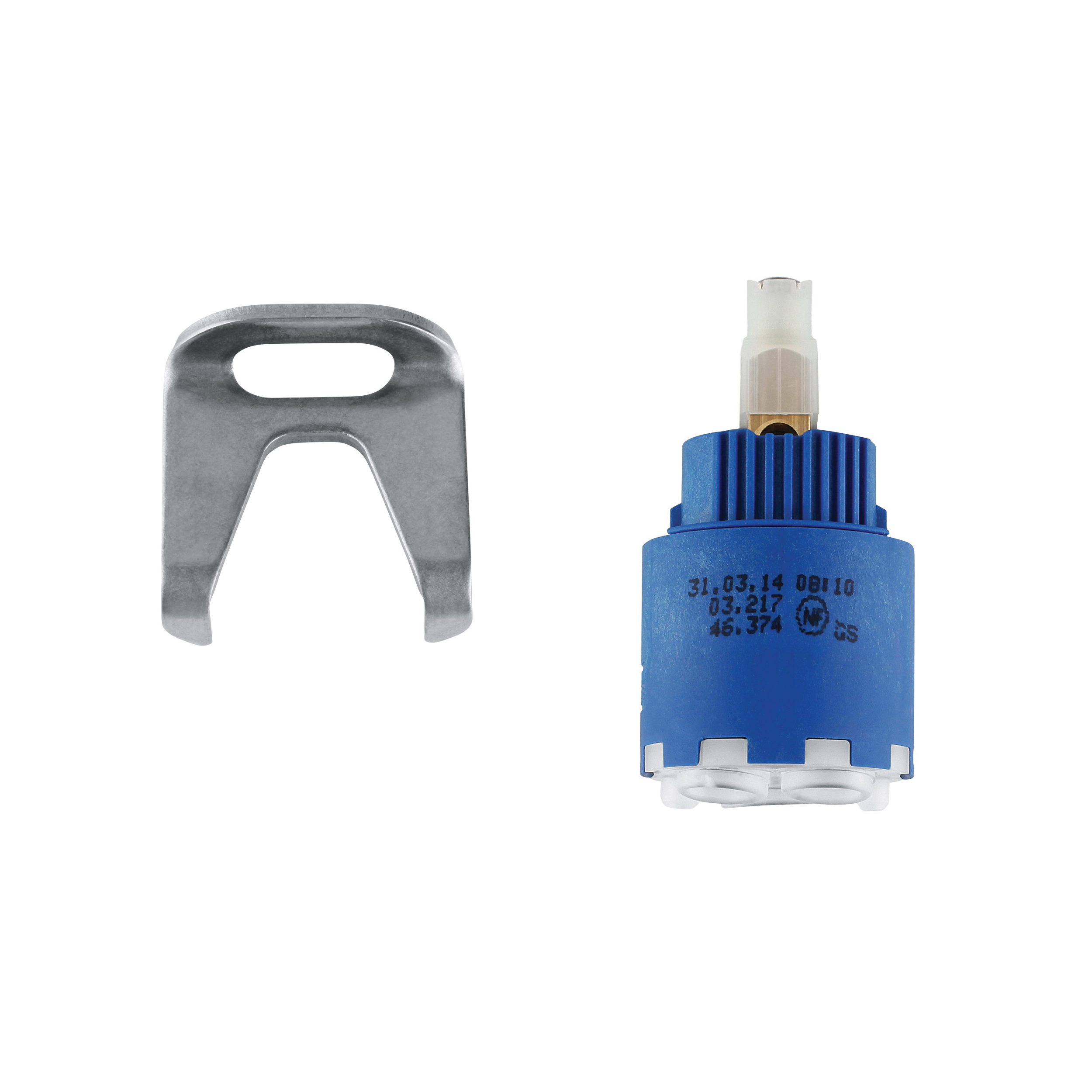 GROHE 46374000 Cartridge With Ceramic Sealing System and Temperature Limiter, For Use With Single Lever Mixer, 35 mm Dia, Import