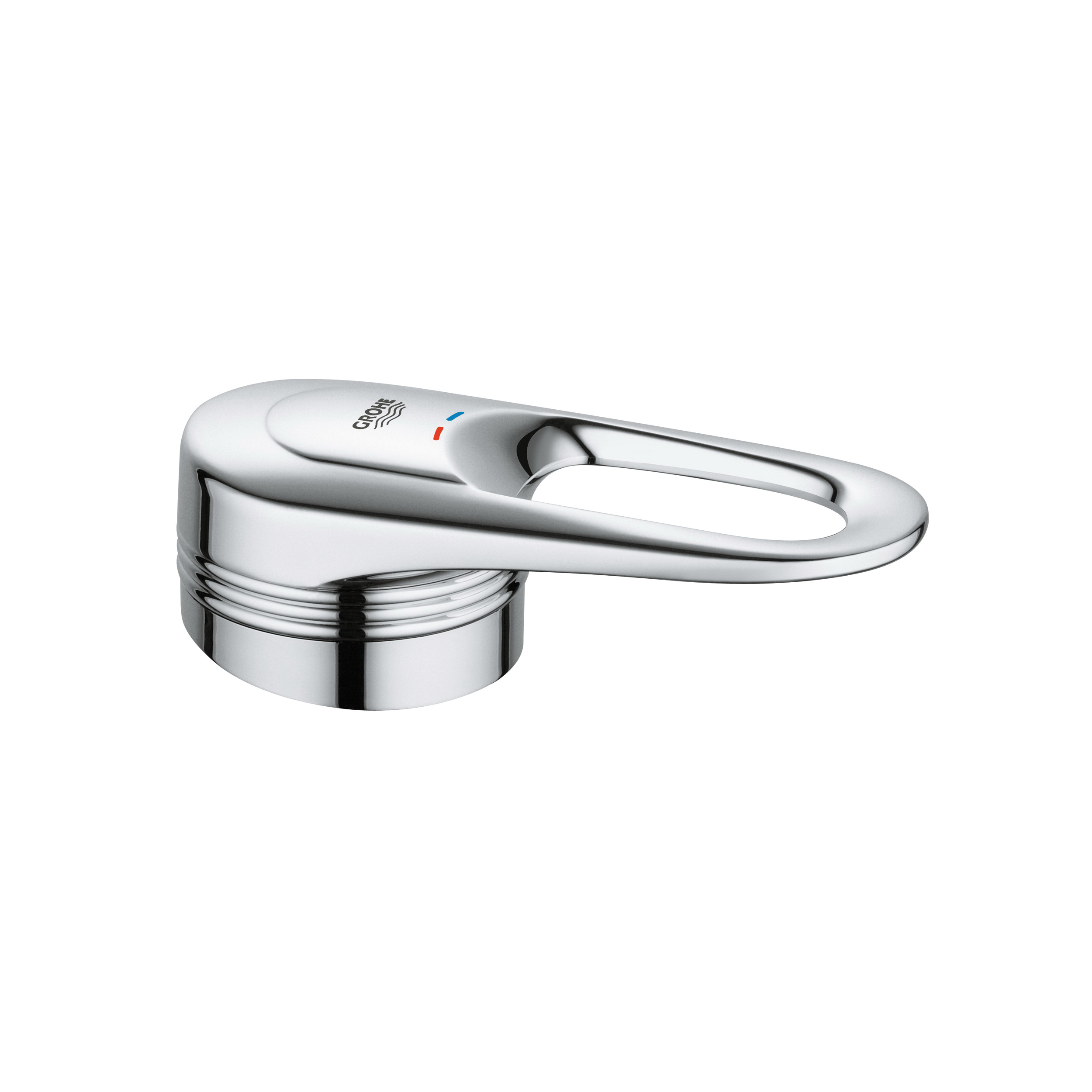 GROHE 46415000 Complete Lever Handle, Metal, StarLight® Chrome, Import