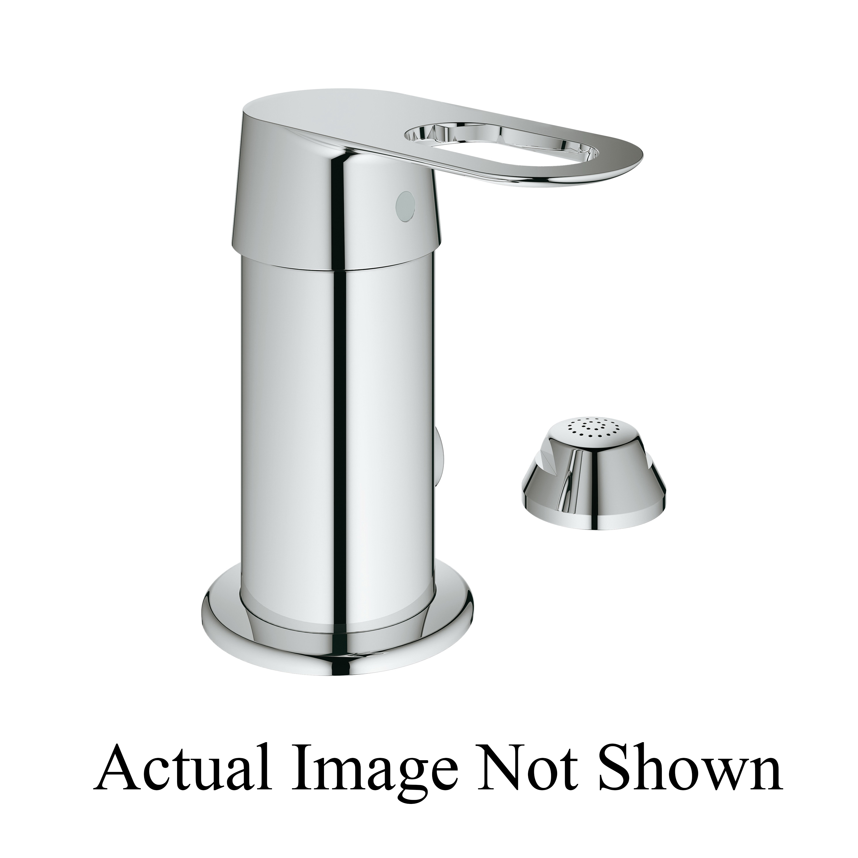 GROHE 47830000 Replacement Trim Handle, For Use With Pressure Balance Valve, StarLight® Chrome, Import