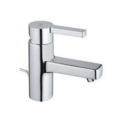 GROHE 32114000 Lineare S-Size Basin Mixer With 1-1/4 in Pop-Up Waste Set, 1.5 gpm, 2-1/8 in H Spout, 1 Handle, 1 Faucet Hole, StarLight® Chrome