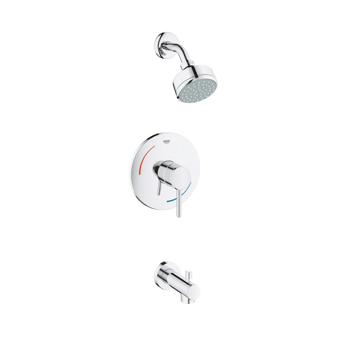 Consolidated Supply Co.   GROHE 35073001 Concetto Bathtub/Shower ...