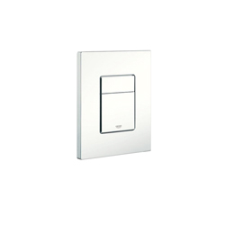 GROHE 38732SH0 Skate Cosmopolitan Actuation Plate, For Use With Dual Flush or Start/Stop Actuation and AV1 Pneumatic Discharge Valve, ABS, StarLight® Alpine White, Import