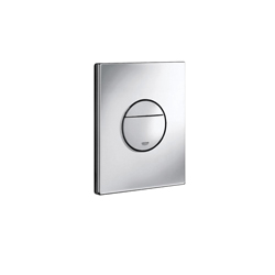 GROHE 38765000 Nova Cosmopolitan Wall Plate, For Use With Dual Flush or Start/Stop Actuation and AV1 Pneumatic Discharge Valve, ABS, StarLight® Chrome Plated, Import