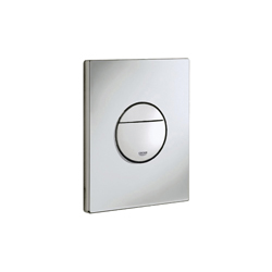 GROHE 38765P00 Nova Cosmopolitan Wall Plate, For Use With Dual Flush or Start/Stop Actuation and AV1 Pneumatic Discharge Valve, ABS, StarLight® Matt Chrome Plated, Import