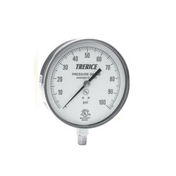 Trerice 600CB 45 02 L A 110 Commercial Grade Contractor Pressure Gauge, 0 to 100 psi, 1/4 in MNPT Lower Connection, 4-1/2 in Dial, +/-1%