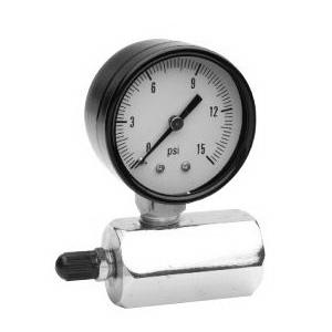 Trerice PGT120191 Gas Test Gauge, 0 to 30 psi/kPa, 3-2-3%, Steel, No Liquid Filled