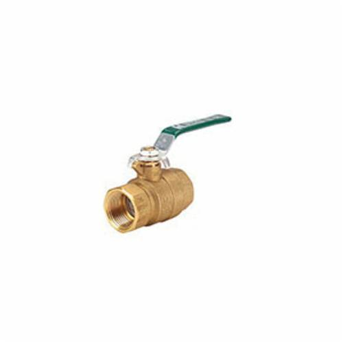 Hammond Valve 8901010034 2-Piece Ball Valve, 3/4 in, NPT, Forged Brass Body, Full Port