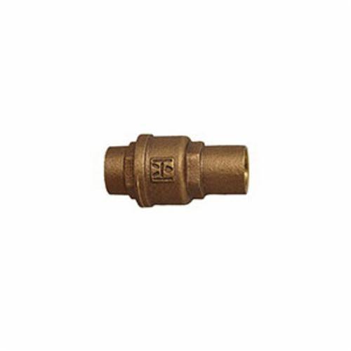 Hammond Valve 0947000034 947 Plumbing Lift Spring Check Valve, 3/4 in, Solder, Cast Bronze Body