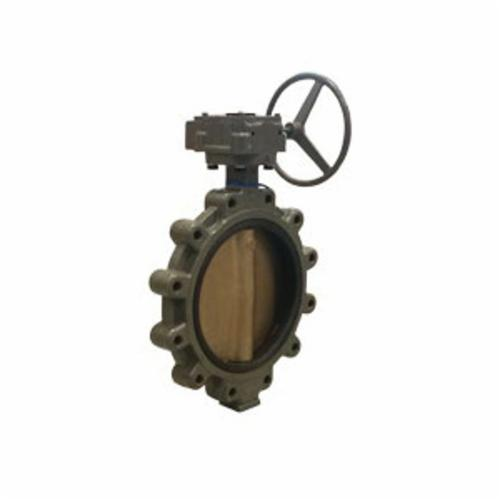 Hammond Valve Ultra Pure™ 5211D030800 5211HI Double Dead End Lug Style Butterfly Valve, 8 in, Cast Iron Body