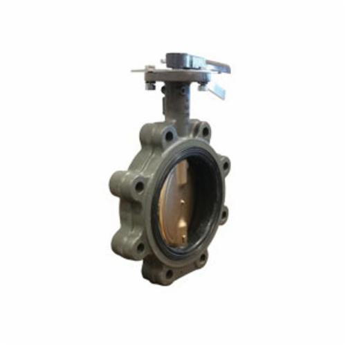 Hammond Valve Ultra Pure™ 5211D010300 5211HI Double Dead End Lug Style Butterfly Valve, 3 in, Cast Iron Body