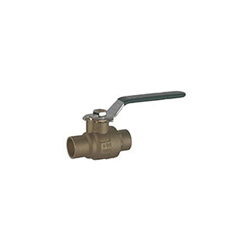 Hammond Valve 8911010112 2-Piece Ball Valve, 1-1/2 in, Solder, Forged Brass Body, Full Port