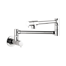 Hansgrohe 04057000 Talis S Pot Filler, 2.5 gpm, Chrome Plated, 2 Handles, Residential