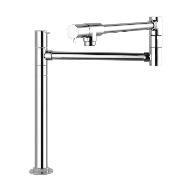 Hansgrohe 04058000 Talis S Freestanding Pot Filler, 2.5 gpm, Chrome Plated, 2 Handles, Domestic, Residential