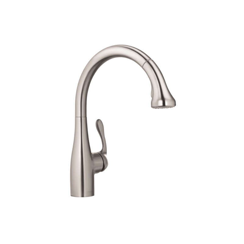 Hansgrohe 04066860 Allegro E Gourmet Pull-Down Kitchen Faucet, 1.75 gpm, 1 Faucet Hole, Steel Optic, 1 Handle, Residential