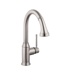 Hansgrohe 04215800 Talis C Pull-Down Kitchen Faucet, 1.75 gpm, 1 Faucet Hole, Steel Optic, 1 Handle, Residential