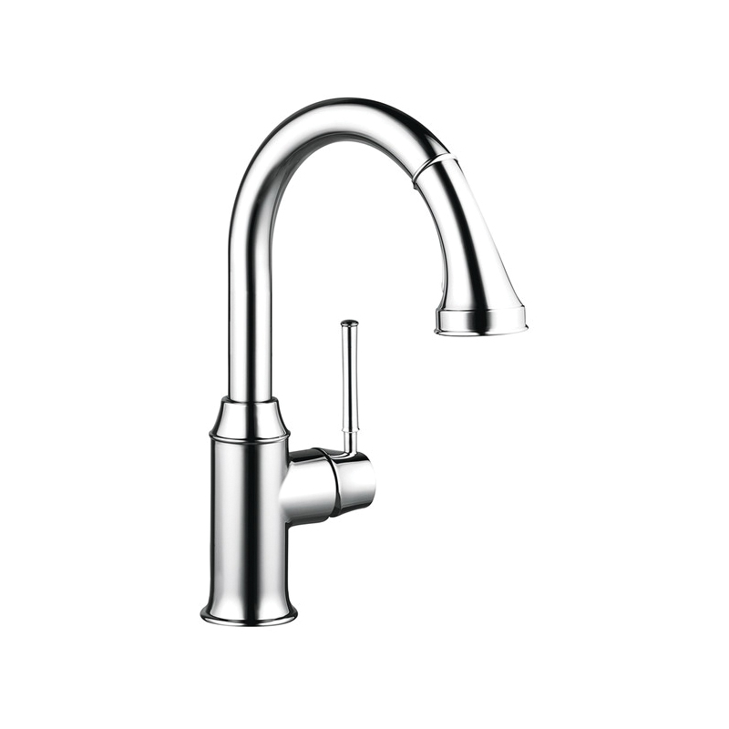 Hansgrohe 04216000 Talis C Pull-Down Prep Kitchen Faucet, 1.75 gpm, 1 Handle, Chrome Plated, Residential