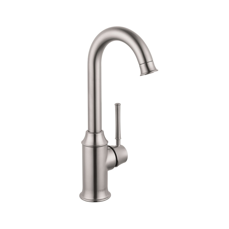 Hansgrohe 04217800 Talis C Bar Kitchen Faucet, 1.5 gpm, 1 Handle, Steel Optik, Residential