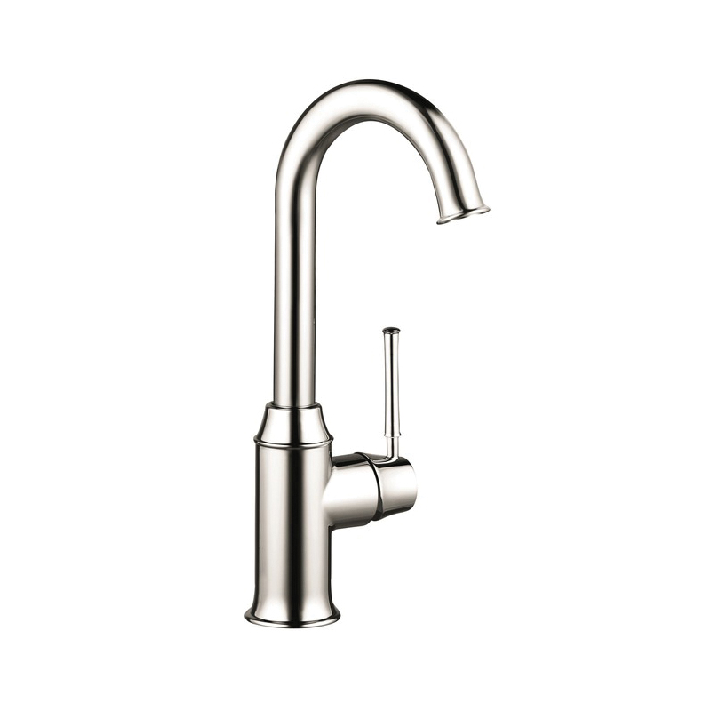 Hansgrohe 04217830 Talis C Bar Kitchen Faucet, 1.5 gpm, 1 Handle, Polished Nickel, Residential