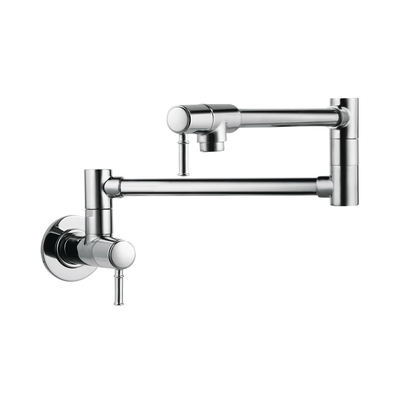 Hansgrohe 04218000 Talis C Pot Filler, 2.5 gpm, Chrome Plated, 2 Handles, Residential