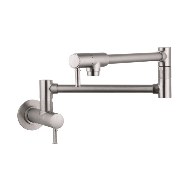 Hansgrohe 04218800 Talis C Pot Filler, 2.5 gpm, Steel Optik, 2 Handles, Residential