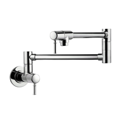 Hansgrohe 04218830 Talis C Pot Filler, 2.5 gpm, Polished Nickel, 2 Handles, Residential