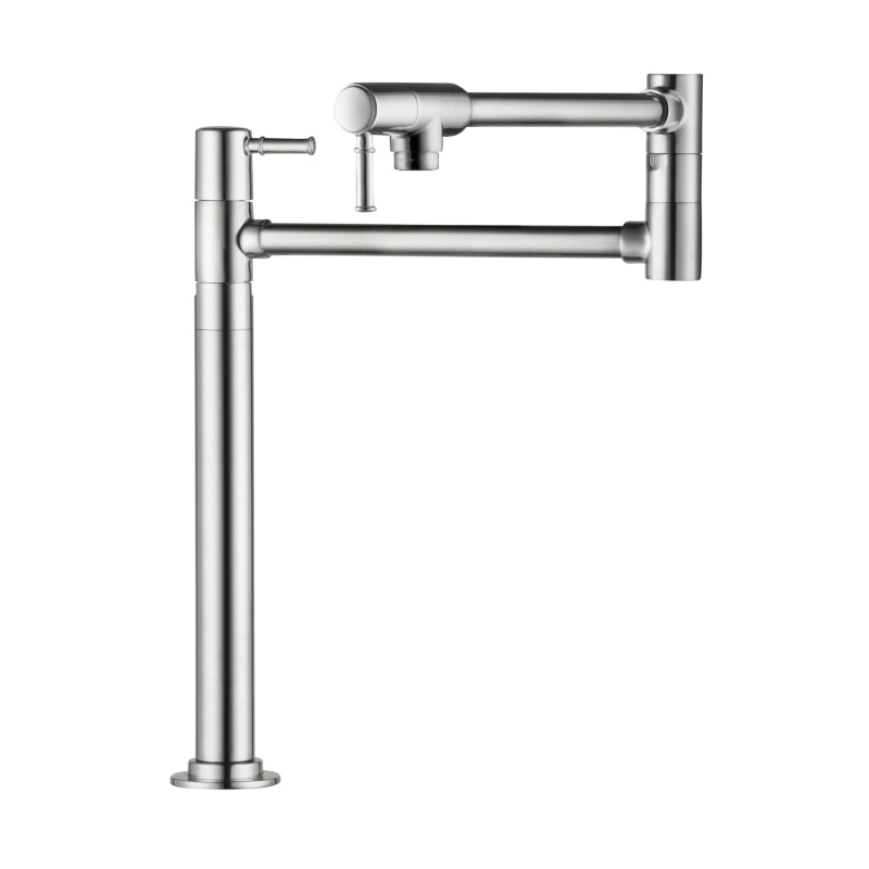 Hansgrohe 04219000 Talis C Freestanding Pot Filler, 2.5 gpm, Chrome Plated, 2 Handles, Residential