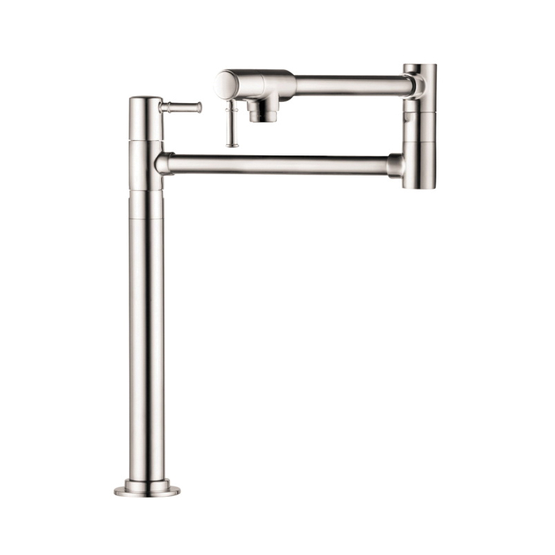 Hansgrohe 04219830 Talis C Freestanding Pot Filler, 2.5 gpm, Polished Nickel, 2 Handles, Residential