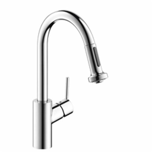 Hansgrohe 04286000 Talis S Pull-Down Kitchen Prep Faucet, 1.75 gpm, 1 Faucet Hole, Chrome Plated, 1 Handle, Domestic, Commercial