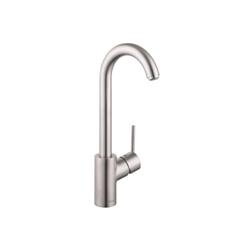 Hansgrohe 04287800 Talis S Bar Faucet, 1.5 gpm, 1 Handle, Steel Optik, Residential