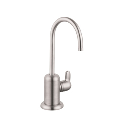Hansgrohe 04300800 Allegro E Universal Beverage Faucet, 1.5 gpm, 1 Handle, Steel Optik, Residential
