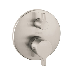 Hansgrohe 04353820 Ecostat S/E Thermostatic Trim, Hand Shower Yes/No: No, Brushed Nickel