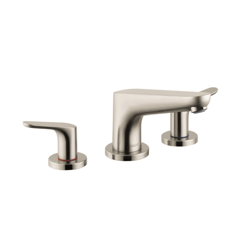 Hansgrohe 4365820 Focus E Roman Tub Set Trim, 5.8 gpm, Brushed Nickel, 2 Handles, Hand Shower Yes/No: No, Import