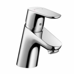 Hansgrohe 04370000 Focus 70 Bathroom Faucet, 1.2 gpm, 2-1/8 in H Spout, 1 Handle, Pop-Up Drain, 1 Faucet Hole, Chrome Plated, Import, Commercial
