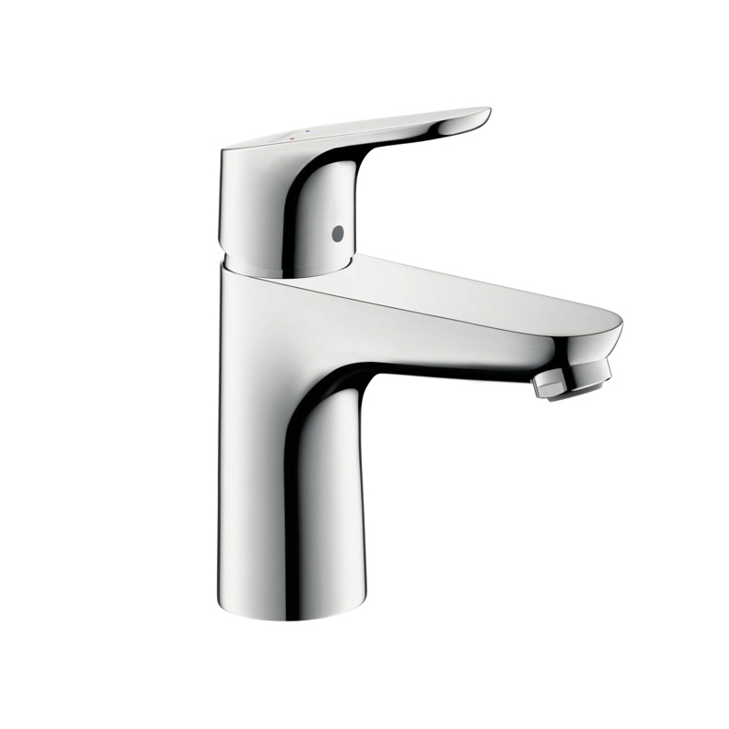 Hansgrohe 04371000 Focus 70 Bathroom Faucet, 1.5 gpm, 3-3/4 in H Spout, 1 Handle, Pop-Up Drain, 1 Faucet Hole, Chrome Plated